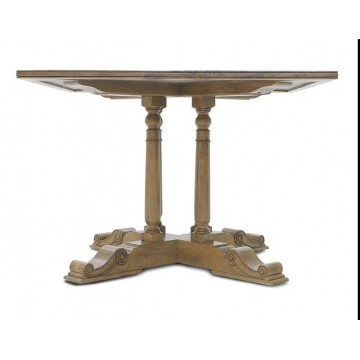 SQUARE BAR TABLE WITH FLAGSTONE TOP (DRIFTWOOD) A.