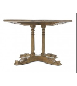 BALUSTER SQUARE BAR TABLE WITH FLAGSTONE TOP