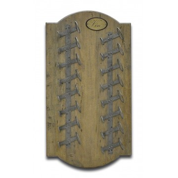 WINE WALL RACK ( VC SMOKEHOUSE DISTRESS - ANTIQUE IRON )