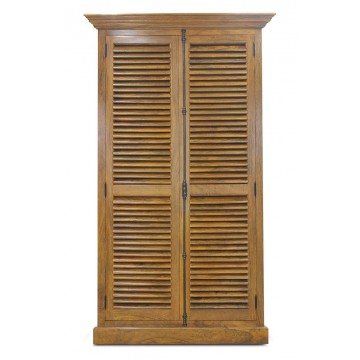 SHUTTER CABINET 2 DR 5SHELF (HONEYCOMB SATIN)