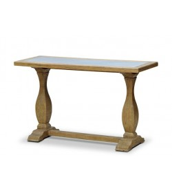 CARMAGUE CONSOLE TABLE WITH TIN PANEL TOP