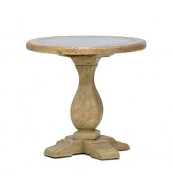CAMAGUE LAMP TABLE WITH TIN TOP