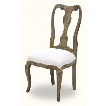 CHAIR SIDE SCROLL UPH (DRIFTWOOD CREAM)