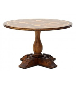 BRIONNE ROUND DINING TABLE 1200 WITH FLAGSTONE TOP