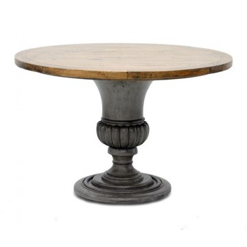 ROUND TABLE VASE BASE (TOP SMOKEHOUSE MD MP - BASE SLATE GREY LD-LP)