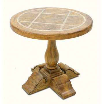 BRIONNE LAMP TABLE KD (SMOKEHOUSE RUSTIC MEDIUM - FAUX SLATE)