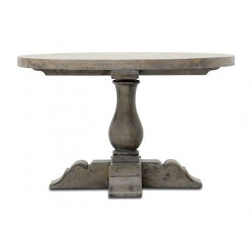 ROUND TABLE (SALVAGE GREY REDUCE WHITE)