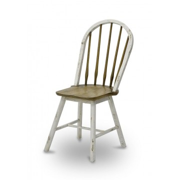 WINDSOR SIDE CHAIR CYLINDER LEG ( VC SMOKEHOUSE DISTRESS - WHITE HD HP )