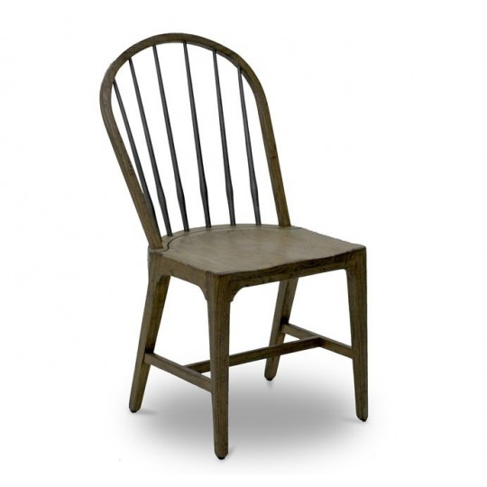 WINDSOR SIDE CHAIR TAPERED LEG ( SMOKEHOUSE RUSTIC LIGHT - HEAVY ANTIQUE IRON )