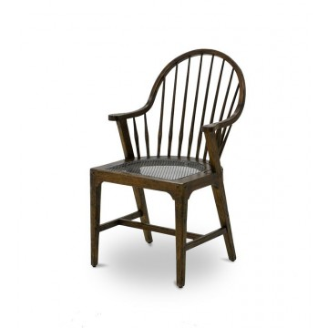 WINDSOR ARM CHAIR TAPERED LEG ( COFFEE BROWN - ANTIQUE IRON )