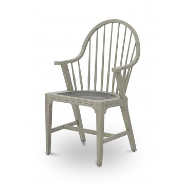 LANDES WINDSOR ARM CHAIR ( GRAY FINISH - ANTIQUE IRON )