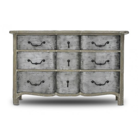 REGENCE COMADE 9 DRAWER ( STRIPPED GESSO - HEAVY ANTIQUE IRON ) A.jpg