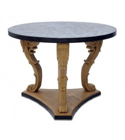 TRIPOD CARVED LEG SALON TABLE
