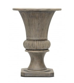 REEDED BALUSTER VASE