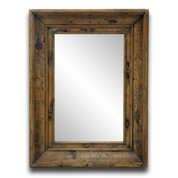 PINE WALL MIRROR (SMOKEHOUSE RUSTIC EXTREME)