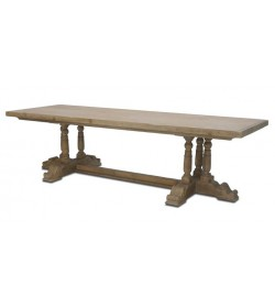 BALUSTER TRIPLE LEG PEDESTAL DINING TABLE