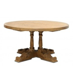 BALUSTER 4 LEG PEDESTAL BASE ROUND DINING TABLE