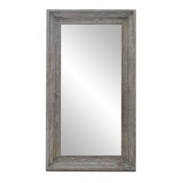 WALL MIRROR LARGE (SMOKEHOUSE WHITE WASH)