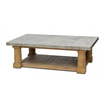 Faux Stone panel top cofee table pers