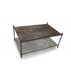 ST. LAZZARE COFFEE TABLE WITH FAUXSLATE TOP UNDERSHELF