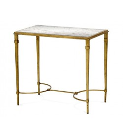 ARDENAY SIDE TABLE WITH ANTIQUE MIRROR TOP