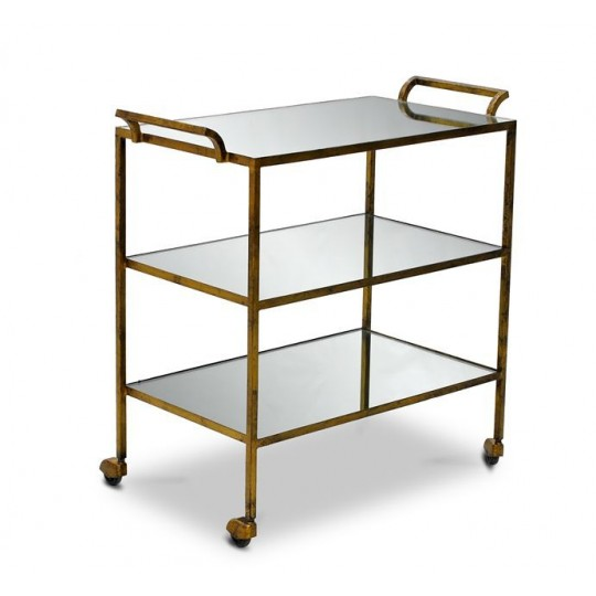 TROLLEY ( ANTIQUE GOLD GLAZE )