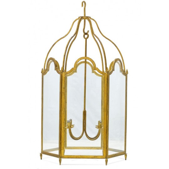 LANTERN XIV WITH LIGHT FITTING (ANTIQUE GOLD GLAZE)