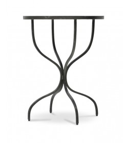 SERPENTINE LEG ROUND SIDE TABLE 600 WITH MOSAIC TOP