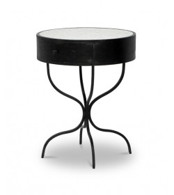 SERPENTINE LEG SIDE TABLE 1DWR-DANAE MOSAIC 600 ROUND TOP