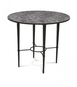 ARDENAY TABLE WITH MOSAIC BIRDS & BLOSSOMS 900 ROUND TOP