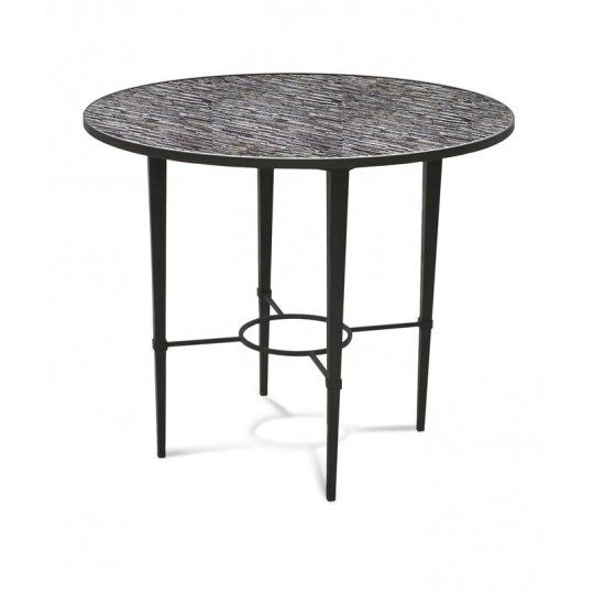 ARDENAY ROUND DINING TABLE WITH MOSAIC BIRDS & BLOSSOMS ( RUSH )