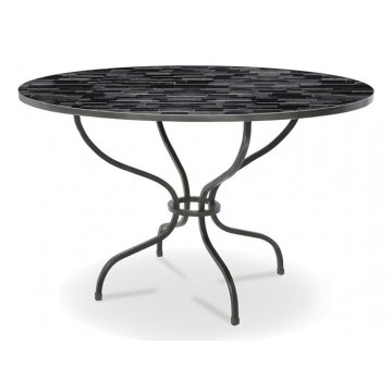CASSEL TABLE (TOP MALIBU GREY - BASE GUN METAL)