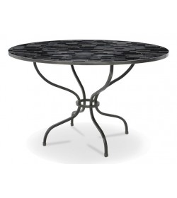 CASSEL TABLE WITH TIMBER 1220 ROUND TOP