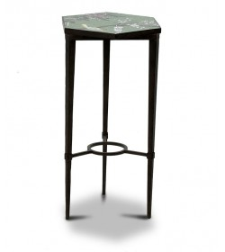 ARDENAY DRINKS TABLE SMALL WITH STRETCHER, MOSAIC TOP HEXAGONAL