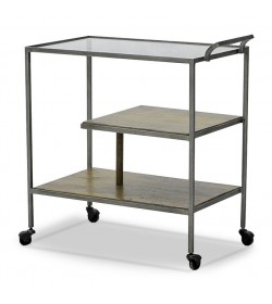 FRENCH ART DECO DRINKS TROLLEY