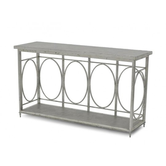 CONSOLE TABLE - LANTERN BASE ONLY LARGE ( ANTIQUE SILVER LEAF )