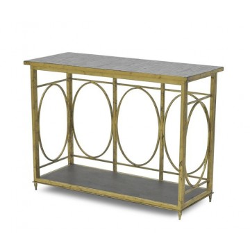 CONSOLE TABLE - LANTERN BASE ONLY MEDIUM ( ANTIQUE GOLD LEAF )