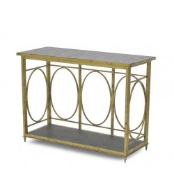 LANTERN BASE CONSOLE MEDIUM WITH MOSAIC TOP