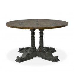 BALUSTER ROUND TABLE WITH BRIONNE TOP 1370