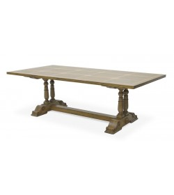 BALUSTER REFRECTORY DINING TABLE WITH FLAGSTONE TOP