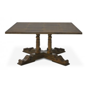 SQUARE TABLE WITH FLAGSTONE TOP ( HONEYCOMB SATIN ) A