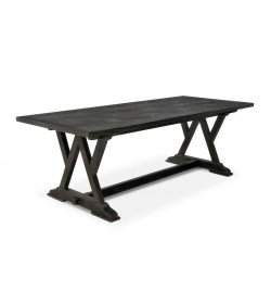 W LEG TRESTLEBASE DINING TABLE WITH BRIONNE TOP
