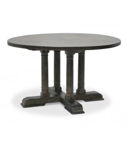 CANON LEG PEDESTAL BASE DINING TABLE WITH BRIONNE TOP ROUND 1320