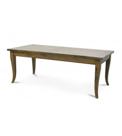 LA GRAVELLE EXTENDING DINING TABLE 2 LEAF WITH PLAIN TOP
