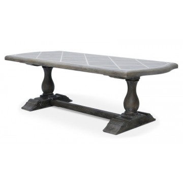 BRIONNE DINING TABLE (SALVAGE GREY WHITE)