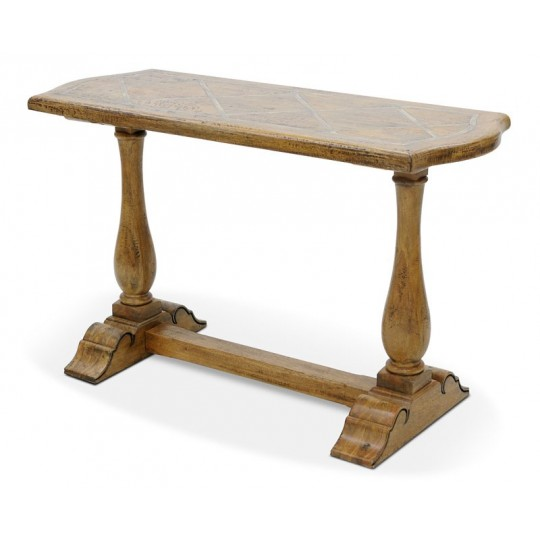 BRIONNE CONSOLE TABLE KD (SMOKEHOUSE RUSTIC MEDIUM - FAUXSLATE)