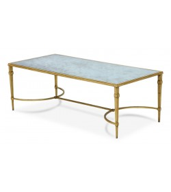 ARDENAY COFFEE TABLE WITH ANTIQUE MIRROR TOP