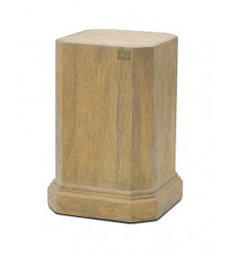PLINTH FOR REEDED BALUSTER VASE