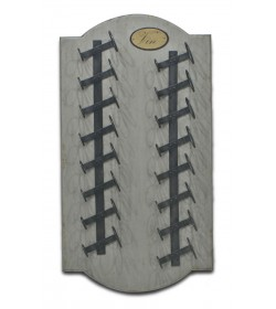 WINE WALL RACK 16 BOTTLE - OBLONG