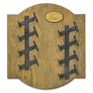 SMALL SQUARE WINE WALL RACK 8 BOTTLES